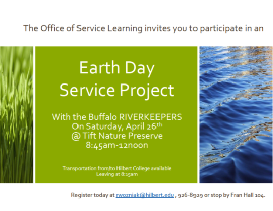 Earth Day Service Project Flyer