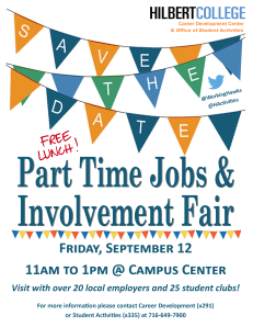 PT Job Fair and Involvement Fair flyer