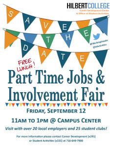 PT Job Fair and Involvement Fair flyer