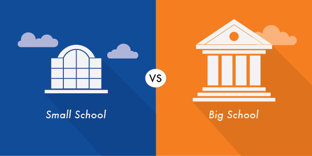 Which school is better a small school or a big school?